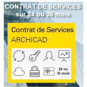 Contrat de services ARCHICAD sur 24 ou 36 mois