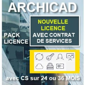 Pack nouvelle licence avec CONTRAT DE SERVICE 24 ou 36 mois
